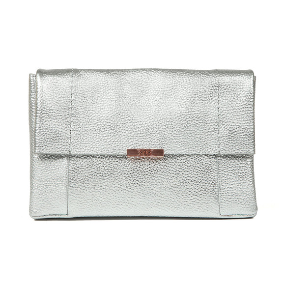 Ted Baker Womens Silver Parson Unlined Soft Leather Xbody Bag main image