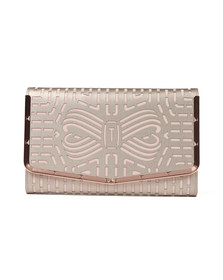 Ted Baker Womens Pink Bree Cut Out Bow Clutch