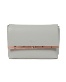 Ted Baker Womens Grey Melisaa Bow Embossed Xbody Bag