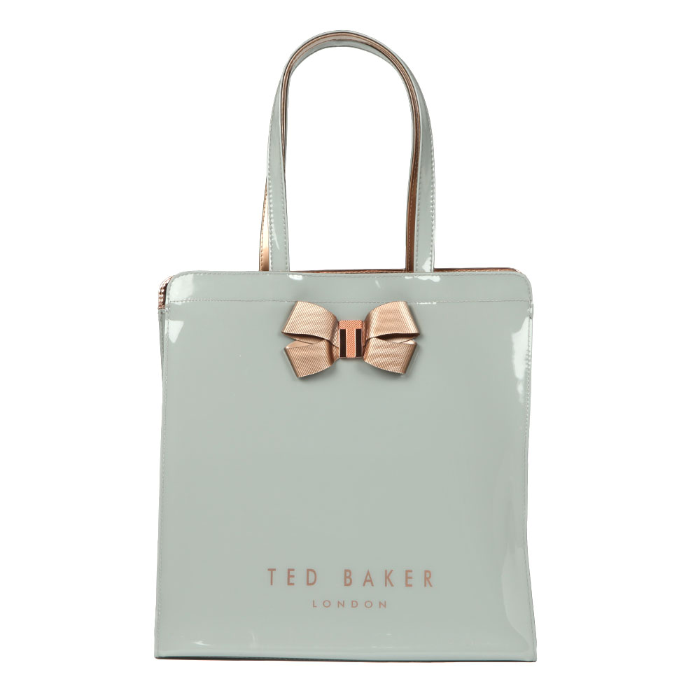 6252ef352 Ted Baker Womens Grey Vallcon Bow Detail Large Icon Bag