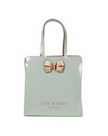 Ted Baker Womens Grey Vallcon Bow Detail Large Icon Bag