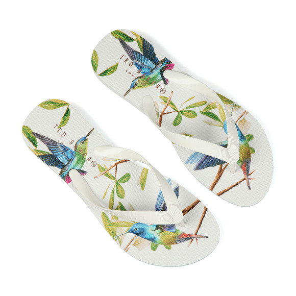 Ted Baker Womens Off-white Beaulup Flip Flop main image