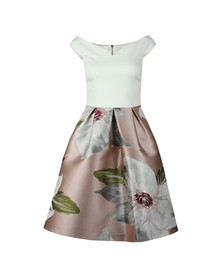 Ted Baker Womens Beige Valtia Chatsworth Jacquard Full Dress