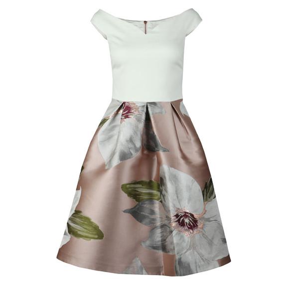 Ted Baker Womens Beige Valtia Chatsworth Jacquard Full Dress main image