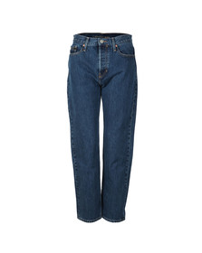Calvin Klein Womens Blue High Rise Straight Jean