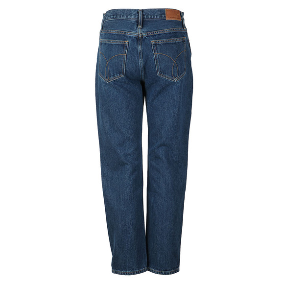 Calvin Klein Jeans Womens Blue High Rise Straight Jean