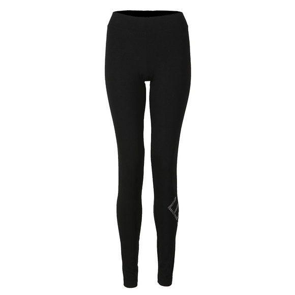 EA7 Emporio Armani Womens Black Stone Logo Legging main image