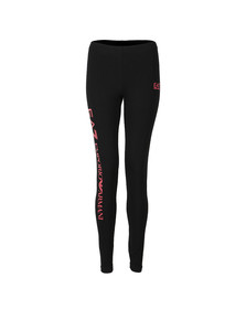 EA7 Emporio Armani Womens Black Small Logo Leggings