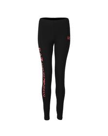 EA7 Emporio Armani Womens Black Small Logo Leggings