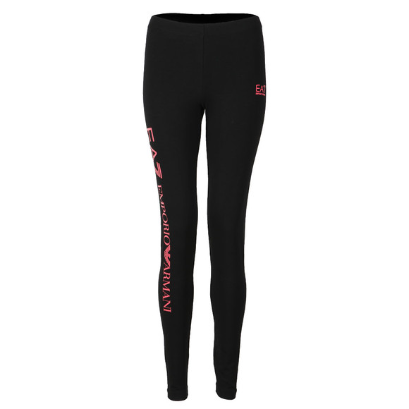 EA7 Emporio Armani Womens Black Small Logo Leggings main image