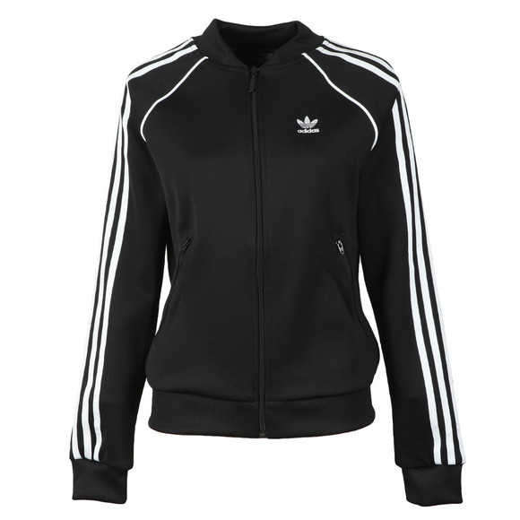 adidas Originals Womens Black Superstar Track Top
