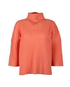 French Connection Womens Orange Mona Mozart High Neck Knit