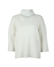 French Connection Womens White Mona Mozart High Neck Knit