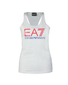 EA7 Emporio Armani Womens White Large Logo Vest