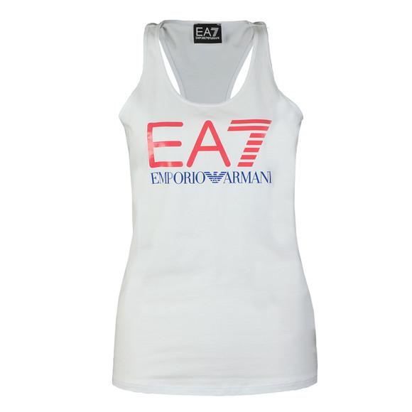 EA7 Emporio Armani Womens White Large Logo Vest main image