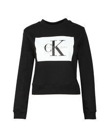 Calvin Klein Jeans Womens Black Hebe True Icon Sweatshirt