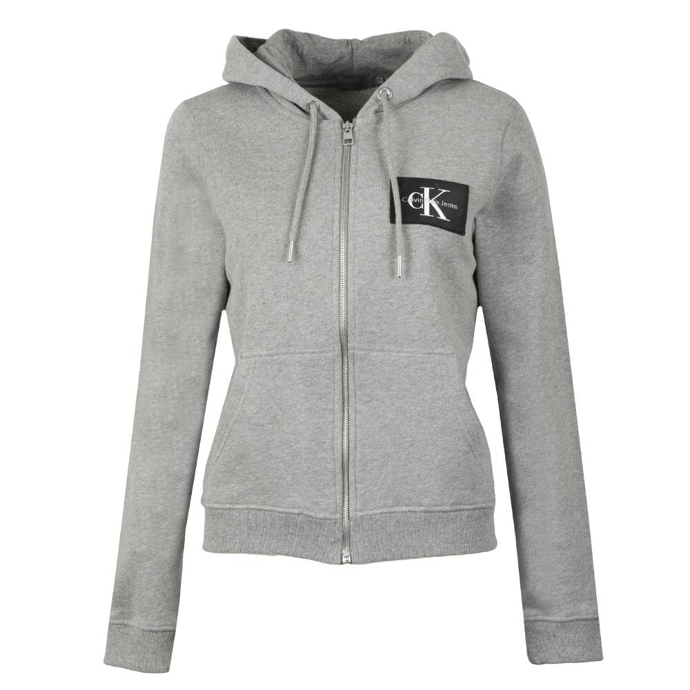 b3b963c2d91c Calvin Klein Jeans Womens Grey Howard True Icon Full Zip Hoody