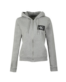 Calvin Klein Jeans Womens Grey Howard True Icon Full Zip Hoody