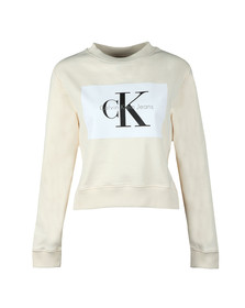 Calvin Klein Jeans Womens Off-white Hebe True Icon Sweatshirt