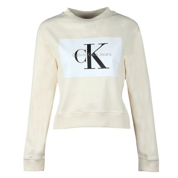 Calvin Klein Jeans Womens Off-White Hebe True Icon Sweatshirt main image