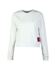 Calvin Klein Jeans Womens White Harrison True Icon Sweatshirt