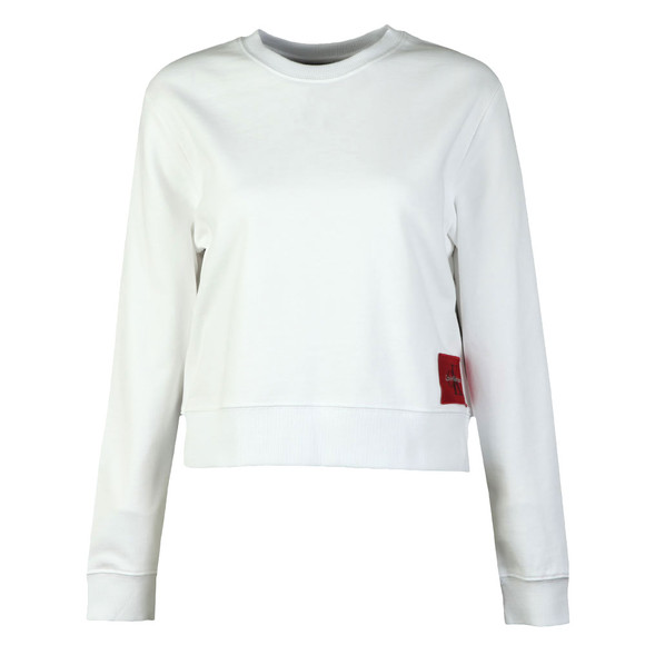 Calvin Klein Jeans Womens White Harrison True Icon Sweatshirt main image