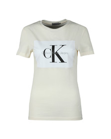 Calvin Klein Jeans Womens Off-white Tanya-40 T Shirt