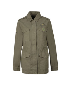 Superdry Womens Green Slub 4 Pocket Rookie Jacket
