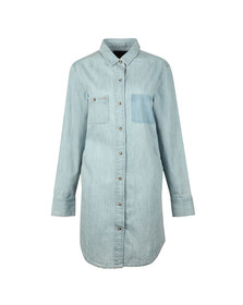 Superdry Womens Blue Oversized Denim Shirt Dress