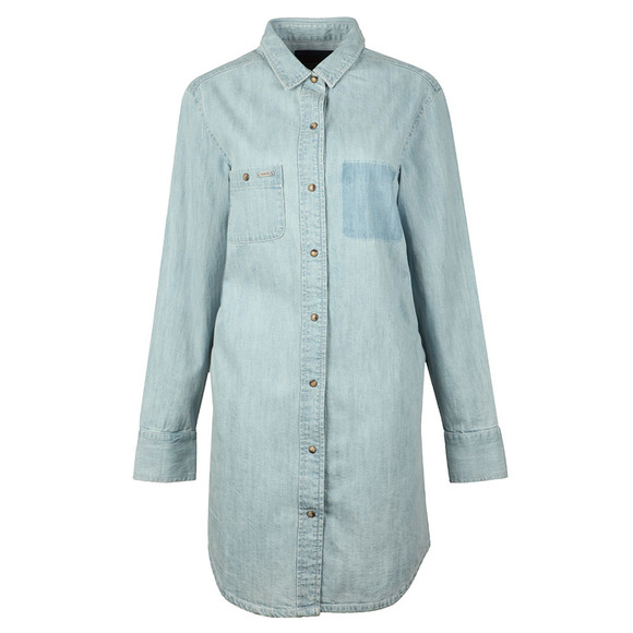 Superdry Womens Blue Oversized Denim Shirt Dress main image