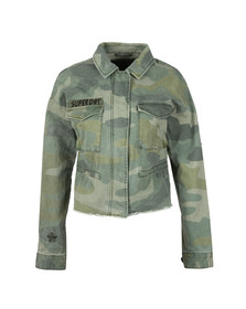 Superdry Womens Green Crop Utility Jacket