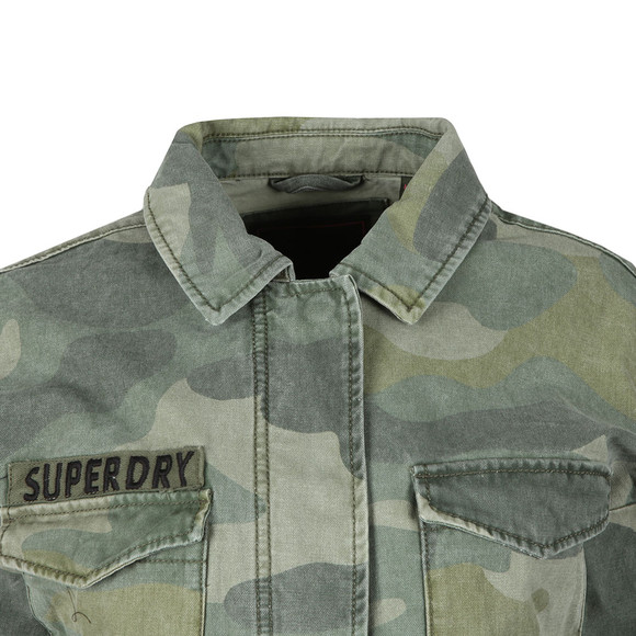 Superdry Womens Green Crop Utility Jacket main image