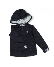 Armani Junior  Boys Blue Hooded Blouson