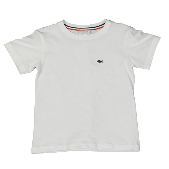 Lacoste Boys White Small Logo T Shirt main image