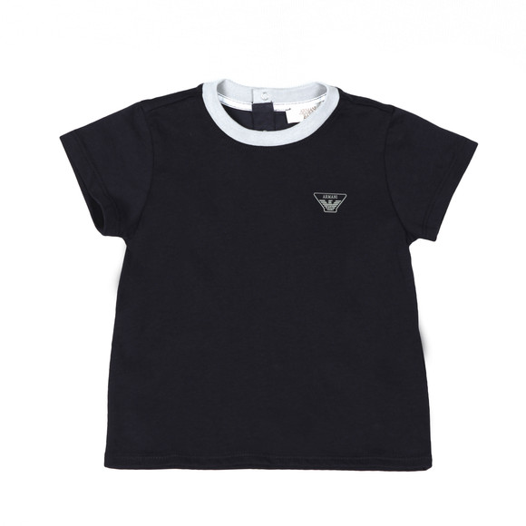 Armani Baby Boys Blue Small Logo T Shirt main image
