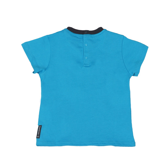 Armani Baby Boys Blue Small Logo T Shirt