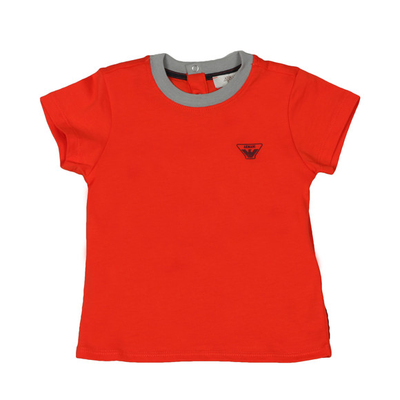 Armani Baby Boys Orange Small Logo T Shirt main image
