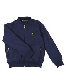 Lyle And Scott Junior Boys Blue Lightly Wadded Bomber