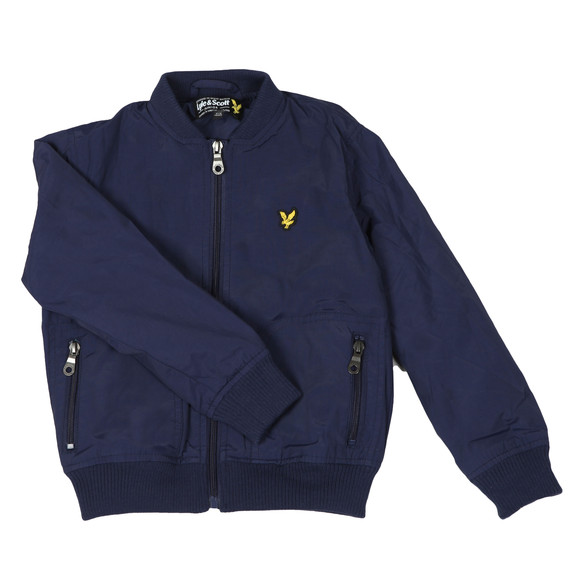 Lyle And Scott Junior Boys Blue Lightly Wadded Bomber main image
