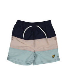 Lyle And Scott Junior Boys Blue Colour Block Swim Short