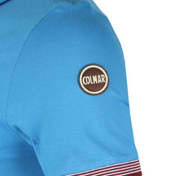 Colmar Mens Blue Tipped Sleeve Polo Shirt main image