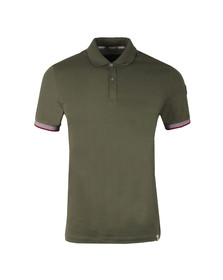 Colmar Mens Green Tipped Sleeve Polo Shirt