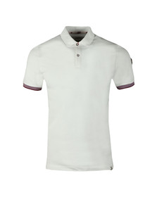 Colmar Mens White Tipped Sleeve Polo Shirt