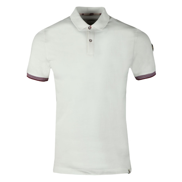 Colmar Mens White Tipped Sleeve Polo Shirt main image
