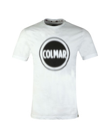 Colmar Mens White Large Logo T Shirt