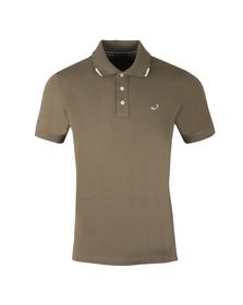 Jacob Cohen Mens Green Pique Polo Shirt