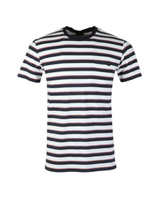 Edwin Mens Blue Pocket Striped T Shirt