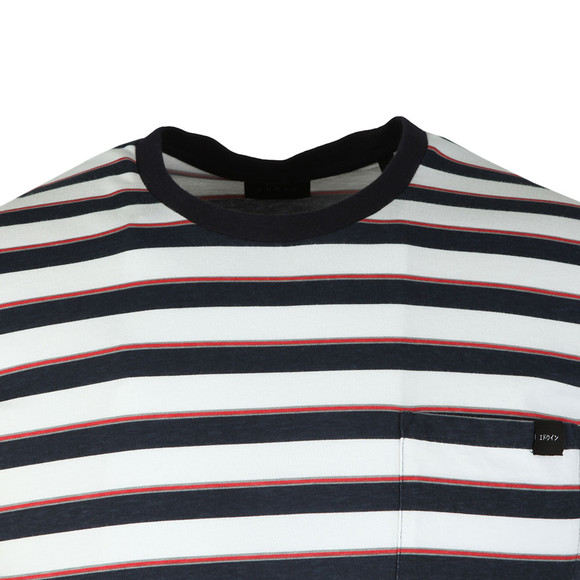 Edwin Mens Blue Pocket Striped T Shirt main image