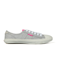 Superdry Womens Silver Low Pro Glitter Sneaker