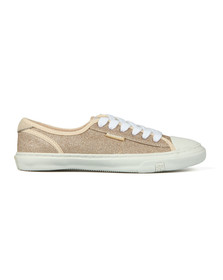 Superdry Womens Gold Low Pro Glitter Sneaker